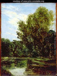 Corner of Hampstead Ponds - John Constable - www.john-constable.org