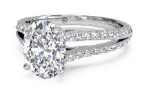Double French-Set Diamond 'V' Engagement Ring with Surprise Diamonds – 2488   Ritani Engagement Rings and Wedding Rings