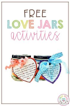 Help your students recognize the important people in their lives with this heart-warming love jars craft! It's the perfect activity to do to prepare for Valentine's Day, Mother's Day, Father's Day, a birthday, or any other special occasion where a singular person is recognized. Upper Elementary Resources, Free Teaching Resources, Teaching Social Studies, Teacher Resources, Teaching Reading, Teaching Math, Fun Learning, Teaching Tips, Diy Arts And Crafts
