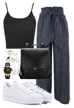 """""""Untitled #24"""" by biancamarie17 on Polyvore featuring MSGM, Topshop, adidas, Oasis and Versace"""