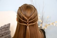 Triple-Braided Tieback | Bohemian Hairstyles and more Hairstyles from…
