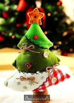 Новогодняя елка своими руками, идеи новогоднего декора, новогодний декор  своими руками (27) f22e454c7fa
