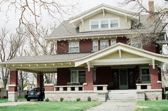 Craftsman Homes of Hutchinson, Kansas. And another house with a porte cochiere (driveway roof).