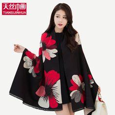 2017 Autumn winter style Graffiti imitation cashmere scarves scarf fashion women soft printing all-match Cotton shawl Female  #Affiliate