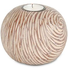 "Mercana Chisel cut textured candle holder Size: 5"" x 5"" x 4"" #962127 $14.99 www.lambertpaint.com"