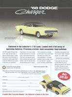 Franklin Mint 1968 Dodge Charger 1998 Ad Picture