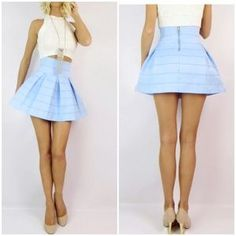 I just added this to my closet on Poshmark: Cute light blue skirt. Price: $18 Size: S