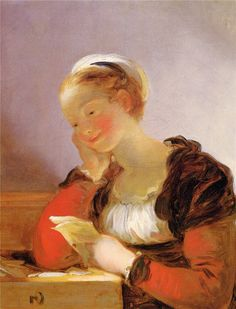 The Letter. Jean-Honore Fragonard (French, 1732-1806).