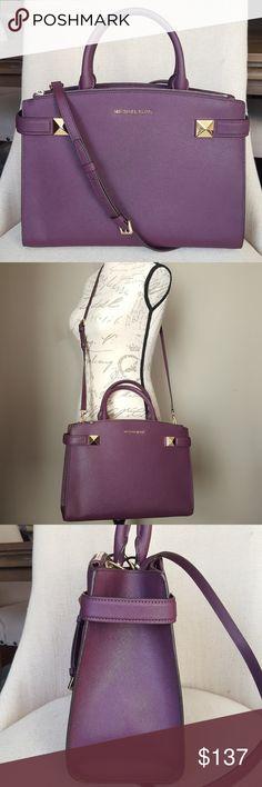NWT Michael Kors MD Karla satchel damson bag purse 100% guaranteed  authentic NWT Michael Kors 661ee205d0250