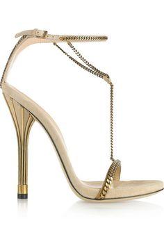 Minimalism: Spring Summer 2012 GUCCI deerskin high-heeled sandals USD 1,749 @ ZZKKO