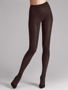Caress the skin and warm the senses: these completely opaque tights with a mat look also give a hint of glamour on cooler days. They skilfully put the legs at centre stage; best worn with short skirts and dresses. Excellent wear, thanks to the applied plating technique Soft, comfortable knitted waistband Cotton gusset