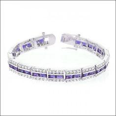 Balboa Purple Cz Bracelet #J5099 (Item number: 147, End Time : Feb. 20, 2015 17:19:43) - 2haifa.com