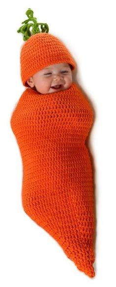 Cute! Baby carrot Halloween costume.... But maybe in one of the fruits or vegetables that Doug and Katy call her?