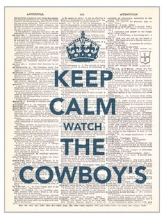 The only problem with this sign is that it's nearly impossible to stay calm when watching the Cowboys - between interceptions, poor clock management, interceptions...and I'm a fan!