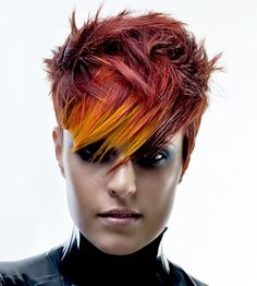 Cool, urban inspired hair style. HOT