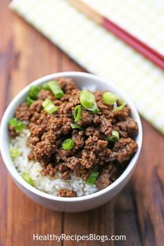 Korean Ground Beef. Easy, ready in 20 minutes, and wonderful over rice or cauliflower rice.