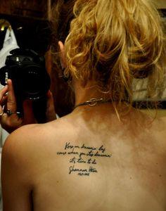 i just...love...text, tattoo