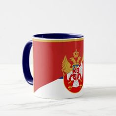 serbia montenegro flag country half symbol mug - country gifts style diy gift ideas