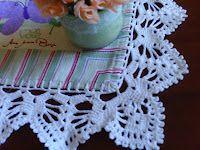 Crochê, tricô, patchwork e artesanato - Crochê, etc. e tal: TOALHA COM BARRADO DE CROCHE