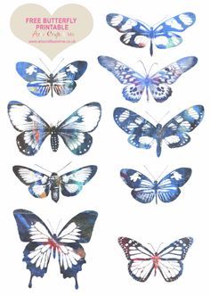 Download the Free Butterfly Printable http://www.artscraftsandme.co.uk