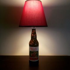 My favorite IPA turned bottle lamp #ballastpointsculpin #ballastpoint #ipa #ilovebeer #lightupyournight #bottlelamp #barlighting #beerlamp #bottlecraftbytom #brewlamp