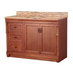 Foremost Naples 49 in. W x 22 in. D Vanity in Warm Cinnamon with Left Drawers and Vanity Top with Stone effects in Bordeaux-NACASB4922DL at The Home Depot
