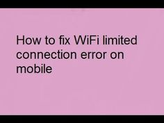 How to fix WiFi limited connection error on mobile with psiphone Urdu Hi...