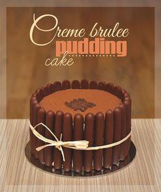 Creme brulee pudding cake #creme #brulee #pudding #cake