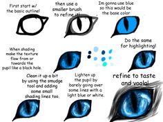 Realistic Feline/ Canine Eye Tutorial by Imaginer-Fox on DeviantArt Eye Drawing Tutorials, Digital Painting Tutorials, Digital Art Tutorial, Drawing Techniques, Drawing Tips, Art Tutorials, Cat Eyes Drawing, Furry Drawing, Drawing Hair