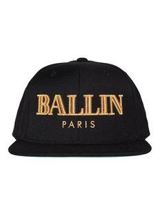 45c3bc1c9d6 ALEX AND CHLOE   BALLIN IN PARIS - SNAPBACK CAP - BLACK W GOLD