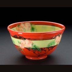 Saladier MT Rouge à Fleurs - Red with flowers salad bowl- Patrick Galtié