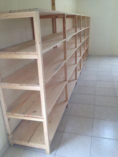 41 Ideas Shop Storage Shelves Basements For 2019 Basement Storage Shelves, Diy Garage Storage, Garage Shelving, Shop Storage, Garage Shelf, Garage Organization Tips, Diy Woodworking, Diy Furniture, Garages
