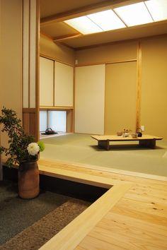 ラフィネ/玄関+和室(H25.4.25更新) Chinese Interior, Modern Japanese Interior, Japanese Aesthetic, Japanese Design, Japanese Tea House, Traditional Japanese House, Japanese Architecture, Modern Architecture, Japan Interior