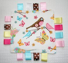 baby taggy blanket by haichy on Etsy, $7.50