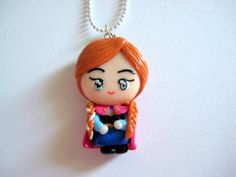 Princess Anna Miniature Charm Necklace Frozen by TheFaidrinBear