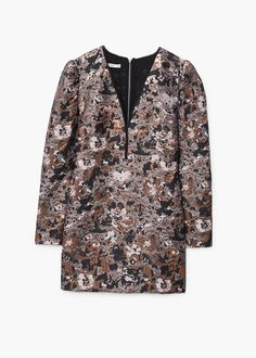 Floral jacquard dress | MANGO