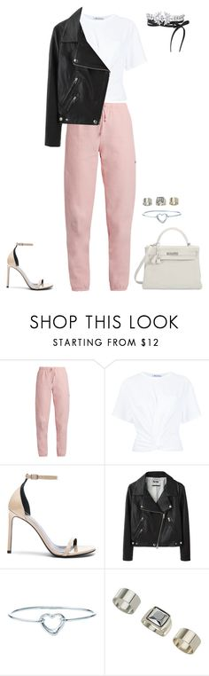 """Untitled #1337"" by kkearis ❤ liked on Polyvore featuring Vetements, T By Alexander Wang, Yves Saint Laurent, Acne Studios, Hermès, Tiffany & Co., Topshop and Fallon"