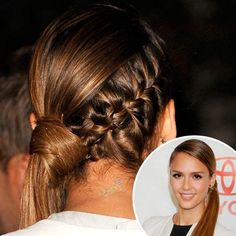 A ponytail is every woman's best kept secret; it's the go-to option for bad hair days, fancy events or even casual outings. Even some of our favorite celebs boasts a ponytail every now … Side Ponytail Hairstyles, Short Hair Ponytail, Fringe Hairstyles, Retro Hairstyles, Trending Hairstyles, Beach Hairstyles, Braided Ponytail, Formal Hairstyles, Hairstyles Haircuts