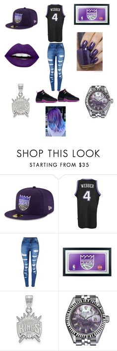 """Not A Celtic Or A Laker I'm A King"" by edatgirl ❤ liked on Polyvore featuring New Era, adidas, WithChic, LogoArt, Rolex, OPI and LunatiCK Cosmetic Labs"