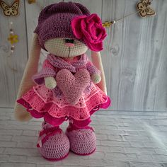 Ravelry: Rosie clothes set pattern by Irina Tarasova Crochet Doll Pattern, Crochet Toys Patterns, Stuffed Toys Patterns, Crochet Dolls, Doll Patterns, Crochet Rabbit, Crochet Bunny, Crochet Russe, Knitted Bunnies