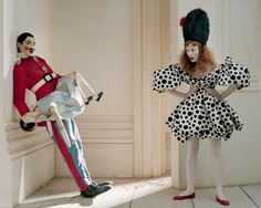Soldier, Soldier, Won't You Merry me? - Karen Elson, Alex Gilbert and Dolly - April 2008 - Vogue UK - Styling Kate Phelan - Tim Walker Photography