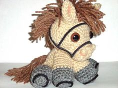 Ravelry: Coco The Pony pattern by Chiwaluv Amigurumi Critters Crochet Pony, Crochet Horse, Knit Or Crochet, Cute Crochet, Crochet Animals, Crochet For Kids, Crochet Crafts, Crochet Dolls, Yarn Crafts