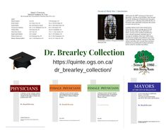 Dr. Brearley Collection - FREE pdf download #QuinteOGS #genealogy #familyhistory Queen's University, University Of Toronto, Medical College, Medical School, General Hospital, Higher Education, Family History, Genealogy, Medicine
