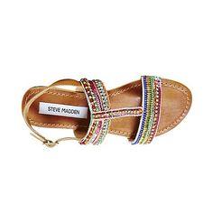 GILDEDD BRIGHT MULTI women's sandal flat ankle strap - Steve ...