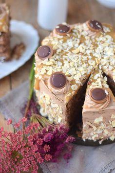 Karamell Nougat Haselnuss Toffifee Torte - Caramel Hazelnut Chocolate Cake (17)