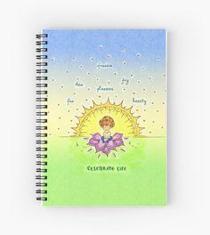 #celebrating #celebratinglife #green #yellow #sun #art #prints #giftideas #gifts #cartoons #watercolors #notebooks #school