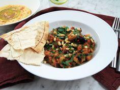 Auberginegryta med hummus | Recept från Köket.se