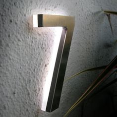 "Luxello Modern LED House Number 5"" Outdoor : Surrounding Australia"