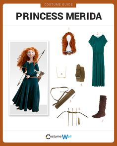 Dress up just like the Scottish princess from Disney/Pixar's Brave starring Princess Merida, voiced by Julie Fowlis.