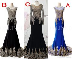 Evening Dresses Australia Online 2015 Black Sheer Neck Formal Evening Dresses 2016 Real Image Embroidery Long Sleeve Prom Dresses Wedding Party Gowns Arabic Plus Size Evening Dresses For Juniors From Bestdeals, $113.35| Dhgate.Com
